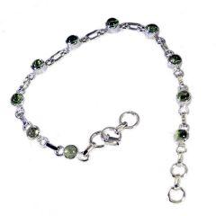 Riyo Peridot Essential Jewellery Simple Silver Bracelet Length 7.5 inches - Product Code - (SBRAPER-58007)