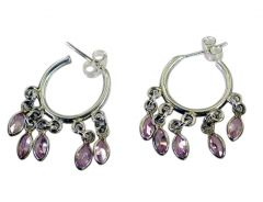 Riyo Cz 925 Solid Sterling Silver Exquisite Earring Length 1.5 inches - Product Code - (SEMUCZ-116051)