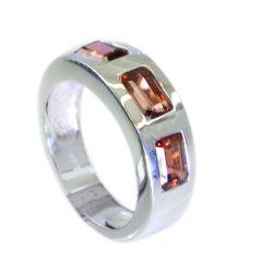 Riyo Garnet Tribal Silver Jewelry Silver Stack Ring Sz 6.5 Srgar6.5-26048