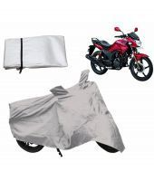 Relax Auto Accessories Bike Body Cover For Hero Hunk - Silver