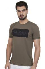 Cult Fiction Men's Wear - Cult Fiction Brown Color Cotton Tshirt for  Men.