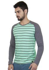 Cult Fiction Men's Wear - Cult Fiction Green Color Cotton Tshirt for  Men