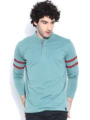 Cult Fiction Comfort Fit Full Sleeves Light Blue T-shirt for men-CFM04LB828