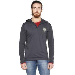 Cult Fiction Charcoal color NA Full Sleeve men's T-shirt (Product Code - CFM07CHR986)