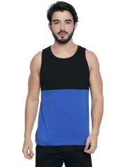 Cult Fiction Round Neck Royal Blue Cotton Material Sleeveless T-Shirt For Men