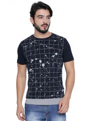 Cult Fiction Navy Cotton Half Sleeve T-Shirt For Men