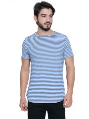Cult Fiction Blue Cotton Half Sleeve T-Shirt For Men