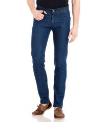 "Masterly Weft Blue Cotton Blend Regular Men""s Jeans (Product Code - D-JEN--4A)"
