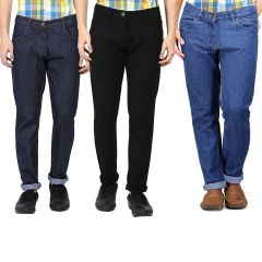 Jeans (Men's) - Masterly Weft Be Trendy Men's Jeans Pack Of 3