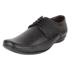Firemark Black Corporate Formal Office shoes(Firemark_3019BlkDerby)