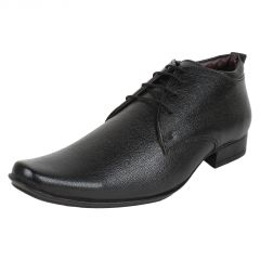 Firemark Black Corporate Formal Office shoes(Firemark_2002BlkDerby)