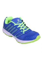 Firemark Mens Aero Mesh Blue Green Running Shoes (code - Firemark_aero_blue_green_10) - Rosf