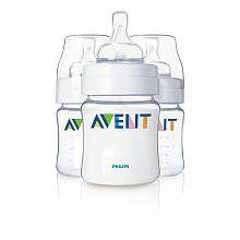 Philips AVENT 4 Ounce BPA Free Bottles 3 Pack