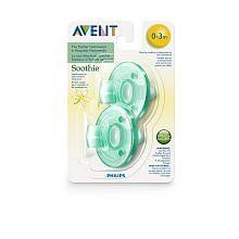 Avent Soothie Pacifier - 0 - 3 Months - Vanilla-Green