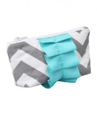 Caught Ya Lookin Diaper Bag Mothers Cosmetic Purse, Gray Chevron
