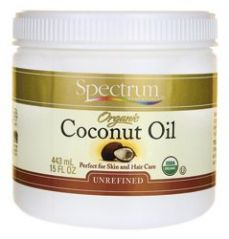 Spectrum Essentials Unrefined Organic Coconut Oil Bodycare 15 Ounces