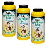Baby Anti-Monkey Butt Diaper Rash Powder, 6oz. Bottle - 3 Pack