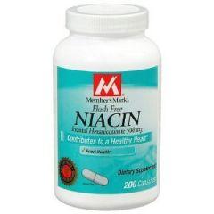"Member""s Mark Niacin 500mg Vitamin B-3 Flush Free, Capsules, 200-Count"