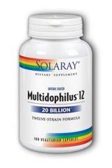Solaray - Multidophilus 12 20 Billion Twelve-Strain Formula - 100 Vegetarian Capsules