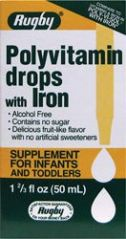 POLY-VIT DROPS W/IRON ***RUG - 1 2/3 fl oz(50 ml)