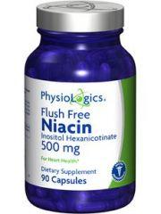 Physiologics - Flush Free Niacin 500 mg 90 caps [Health and Beauty]
