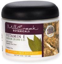 Mill Creek Botanicals Vitamin E Cream 20000 IU, 4 Ounce