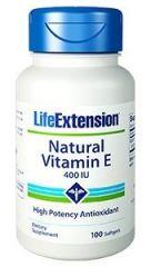 Life Extension Vitamin E 400 IU Vegetarian Capsules, 100 Count