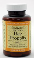 "Durham""s Bee Propolis 500mg 120 Capsules"