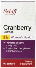 Schiff Cranberry Extract Cranberry Capsules Supplement, 90 Count