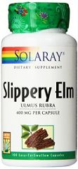 Solaray Slippery Elm Bark Capsules, 400 mg, 100 Count