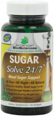 American Biosciences Sugar Solve 24/7, Gel Capsules, 60 Count