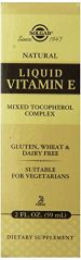 Solgar Natural Liquid Vitamin E Mixed Tocopherol Complex Dropper, 2 fl oz
