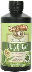 "Barlean""s Organic Oils Olive Leaf Complex Peppermint Flavor, 16-Ounce Bottle"