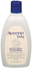 Aveeno Baby Soothing Relief Cream Wash, 12-Fluid Ounces Bottles Pack of 3