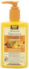 Avalon Organics Vitamin C Renewal, Facial Cleanser, 8.5 Ounce