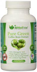 BeMedFree.com Pure Green Coffee Bean Extract 800mg All Natural Weight Loss Pills For Men & Women