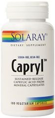 Solaray Capryl Sodium and Resin-Free Capsules,100 Count