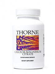 Thorne Research - Calcium-Magnesium Citrate - 90 Vegetarian Capsules