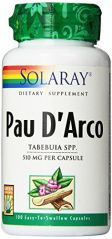"Solaray Pau D""arco Inner Bark Capsules, 510 mg, 100 Count"