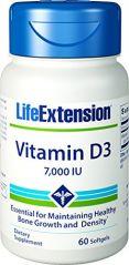 Life Extension Vitamin D3 7000 IU, 60 capsules