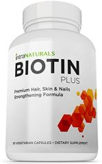 BEST Biotin Formula | Biotin Plus from IntraNaturals |90 Vegetarian Capsules | Advanced Hair, Skin, & Nails Complex Containing 5,000mcg of Biotin
