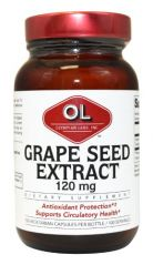 Olympian Labs Grape Seed Extract 120 mg, 100 Capsules