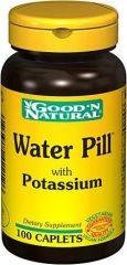 """Water Pill - Helps Support Fluid Balance, 100 tabs,(Good""""n Natural)"""