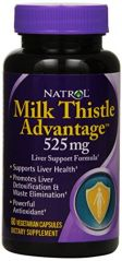 Natrol Milk Thistle Advantage 525 Mg Capsule, 60-Count
