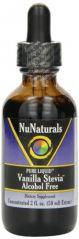 NuNaturals Nustevia Vanilla Alcohol Free Stevia Glass Bottle Liquid, 2-Ounce