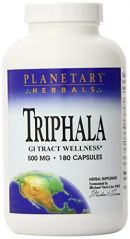 Planetary Herbals Triphala, Traditional Ayurvedic Purifier, 500 mg, 180 capsules (Pack of 2)