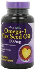 Natrol Flax Seed Oil 1000mg Softgels, 120-Count (Pack of 3)
