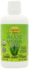 Dynamic Health Organic Certified Aloe Vera Juice Lemon-Lime Flavor, 32-Ounce