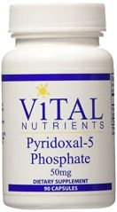 Vital Nutrients Pyridoxal-5 Phosphate Supplement, 50 mg, 90 Count