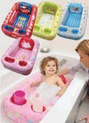 Sesame Street Inflatable Bathtub, Blue-White